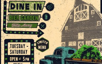 The Brew Pub Is Open – In House – Take Out – Bier Garden!!