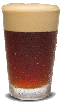 Dark Amber beer in a glass