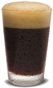 Stout beer in a glass