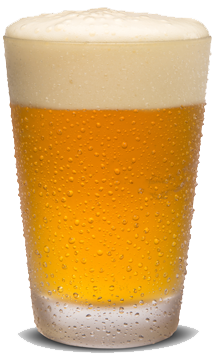 Lager beer in a glass