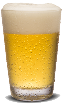 Light beer in a glass